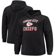 Kansas City Chiefs NFL Pro Line by Fanatics Branded Big & Tall Victory Arch Pullover Hoodie – Black