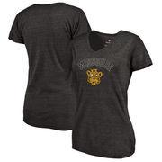 Missouri Tigers Fanatics Branded Women's Vault Arch over Logo Tri-Blend V-Neck T-Shirt - Black