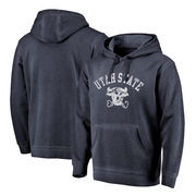 Utah State Aggies Fanatics Branded Vault Arch Over Logo Shadow Washed Pullover Hoodie - Navy