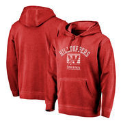 Western Kentucky Hilltoppers Fanatics Branded Vault Arch Over Logo Shadow Washed Pullover Hoodie - Red