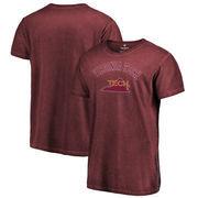 Virginia Tech Hokies Fanatics Branded Vault Arch Over Logo Shadow Washed T-Shirt - Garnet