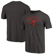 Texas Tech Red Raiders Fanatics Branded Vault Arch Over Logo Tri-Blend T-Shirt - Black