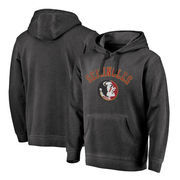 Florida State Seminoles Fanatics Branded Vault Arch Over Logo Shadow Washed Pullover Hoodie - Black