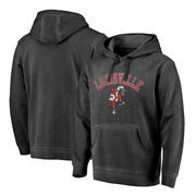 Louisville Cardinals Fanatics Branded Vault Arch Over Logo Shadow Washed Pullover Hoodie - Black