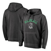 Marshall Thundering Herd Fanatics Branded Vault Arch Over Logo Shadow Washed Pullover Hoodie - Black