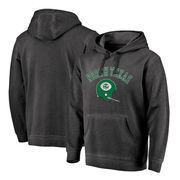 North Texas Mean Green Fanatics Branded Vault Arch Over Logo Shadow Washed Pullover Hoodie - Black