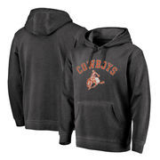 Oklahoma State Cowboys Fanatics Branded Vault Arch Over Logo Shadow Washed Pullover Hoodie - Black