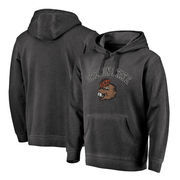 Oregon State Beavers Fanatics Branded Vault Arch Over Logo Shadow Washed Pullover Hoodie - Black