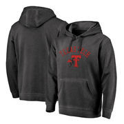 Texas Tech Red Raiders Fanatics Branded Vault Arch Over Logo Shadow Washed Pullover Hoodie - Black