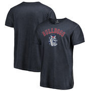 Fresno State Bulldogs Fanatics Branded Vault Arch Over Logo Shadow Washed T-Shirt - Navy