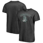 Michigan State Spartans Fanatics Branded Vault Arch Over Logo Shadow Washed T-Shirt - Black