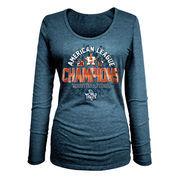 Houston Astros New Era Women's 2017 American League Champions Long Sleeve T-Shirt - Navy