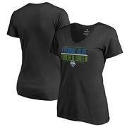 Seattle Sounders FC Fanatics Branded Women's Eternal Blue, Forever Green V-Neck T-Shirt - Black