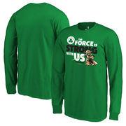Boston Celtics Fanatics Branded Youth Star Wars Jedi Strong Long Sleeve T-Shirt - Kelly Green