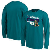 Charlotte Hornets Fanatics Branded Youth Star Wars Jedi Strong Long Sleeve T-Shirt - Aqua