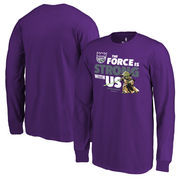 Sacramento Kings Fanatics Branded Youth Star Wars Jedi Strong Long Sleeve T-Shirt - Purple
