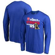 Detroit Pistons Fanatics Branded Star Wars Jedi Strong Long Sleeve T-Shirt - Royal