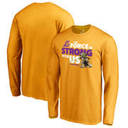 Los Angeles Lakers Fanatics Branded Star Wars Jedi Strong Long Sleeve T-Shirt - Gold