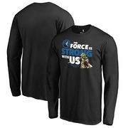 Minnesota Timberwolves Fanatics Branded Star Wars Jedi Strong Long Sleeve T-Shirt - Black