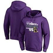 Sacramento Kings Fanatics Branded Star Wars Jedi Strong Pullover Hoodie - Purple