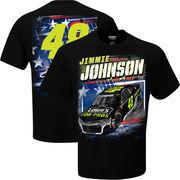 Jimmie Johnson Checkered Flag Patriotic T-Shirt – Black