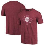 New Mexico State Aggies Fanatics Branded College Vault Primary Logo Tri-Blend T-Shirt - Garnet