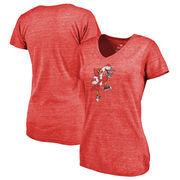 Louisville Cardinals Fanatics Branded Women's College Vault Primary Logo Tri-Blend V-Neck T-Shirt - Red