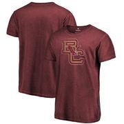 Boston College Eagles Fanatics Branded College Vault Primary Logo Shadow Washed T-Shirt - Garnet