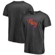 Clemson Tigers Fanatics Branded College Vault Primary Team Logo Shadow Washed T-Shirt - Black