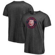 Gonzaga Bulldogs Fanatics Branded College Vault Primary Team Logo Shadow Washed T-Shirt - Black