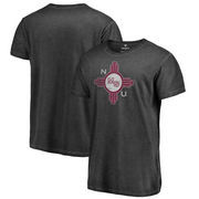 New Mexico State Aggies Fanatics Branded College Vault Primary Team Logo Shadow Washed T-Shirt - Black