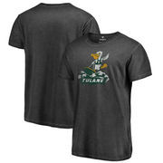 Tulane Green Wave Fanatics Branded College Vault Primary Team Logo Shadow Washed T-Shirt - Black