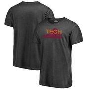 Virginia Tech Hokies Fanatics Branded College Vault Primary Team Logo Shadow Washed T-Shirt - Black