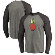 UCF Knights Fanatics Branded College Vault Primary Team Logo Big & Tall Long Sleeve Tri-Blend Raglan T-Shirt - Ash