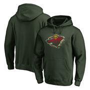 Minnesota Wild Fanatics Branded Splatter Team Logo Pullover Hoodie – Green