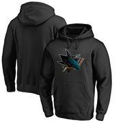 San Jose Sharks Fanatics Branded Primary Midnight Mascot Pullover Hoodie – Black