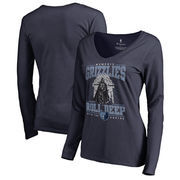 Memphis Grizzlies Fanatics Branded Women's Star Wars Roll Deep with the Empire Long Sleeve T-Shirt - Navy
