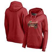 Minnesota Wild Fanatics Branded Women's Stay Wild Pullover Hoodie – Red