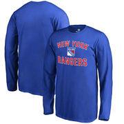 New York Rangers Fanatics Branded Youth Wordmark Victory Arch Long Sleeve T-Shirt – Blue