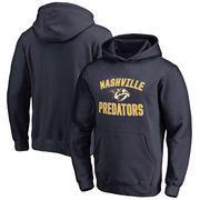 Nashville Predators Fanatics Branded Youth Wordmark Victory Arch Pullover Hoodie – Navy