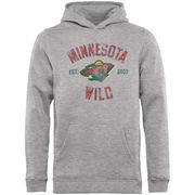 Minnesota Wild Fanatics Branded Youth Heritage Pullover Hoodie – Gray