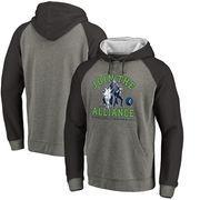 Minnesota Timberwolves Fanatics Branded Star Wars Alliance Raglan Sleeve Pullover Hoodie - Heathered Gray