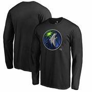 Minnesota Timberwolves Fanatics Branded Midnight Mascot Long Sleeve T-Shirt - Black