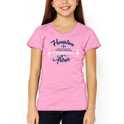 Houston Astros Soft as a Grape Girls Youth 2017 World Series Champions T-Shirt - Pink