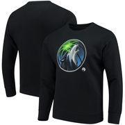 Minnesota Timberwolves Fanatics Branded Midnight Mascot Sweatshirt - Black