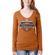 Houston Astros 5th & Ocean by New Era Women's 2017 World Series Champions Long Sleeve T-Shirt - Orange