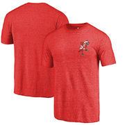 Louisville Cardinals Fanatics Branded College Vault Left Chest Distressed Tri-Blend T-Shirt - Red