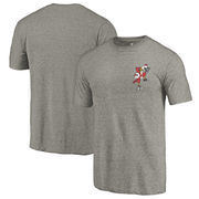 Louisville Cardinals Fanatics Branded College Vault Left Chest Distressed Tri-Blend T-Shirt - Gray