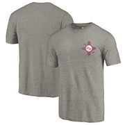 New Mexico State Aggies Fanatics Branded College Vault Left Chest Distressed Tri-Blend T-Shirt - Gray