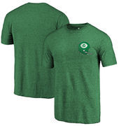 North Texas Mean Green Fanatics Branded College Vault Left Chest Distressed Tri-Blend T-Shirt - Green